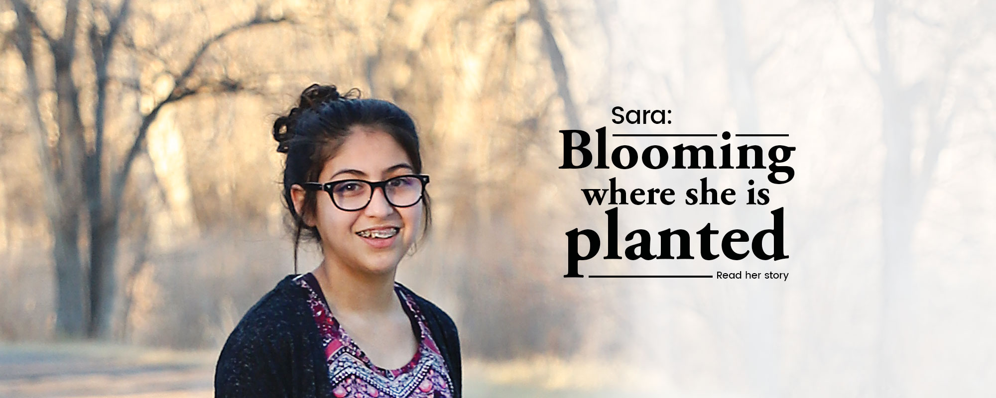 Click to read Sara's story.
